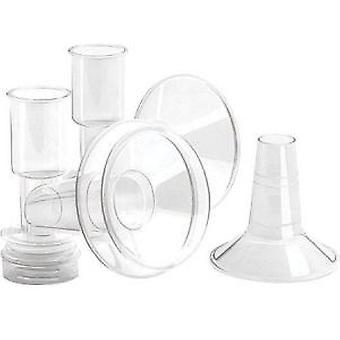 Ameda Breast Flanges Xx-Large (36.0 mm) with inserts, X-Large (32.5 mm)