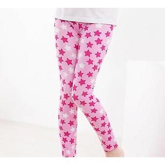 Kukka printti leggingsit, lyijykynä housut (set-2)