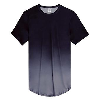 Gradient Color T-shirt Męski, T-shirt fitness z krótkim rękawem Gyms Tight Casual Top