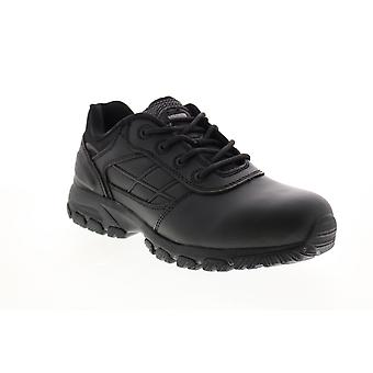 Magnum Response III Low  Mens Balck Leather Lace Up Work Boots