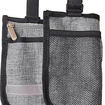 Double Sided Hanging Bag Suitable For Wheelchairs (gray)