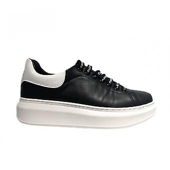 Women's Sneakers With Zeppa Gaëlle In White Faux Leather Ds21ge03 Gbds2254