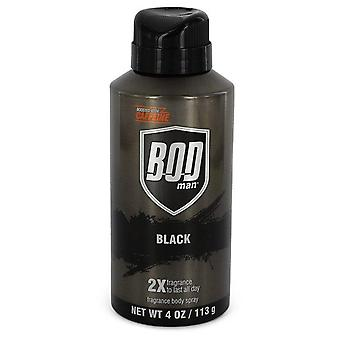 BOD hombre negro cuerpo Spray por Parfums De Coeur 4 oz Body Spray