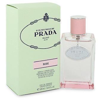 Prada Infusion De Rose Eau De Parfum Spray By Prada 3.4 oz Eau De Parfum Spray