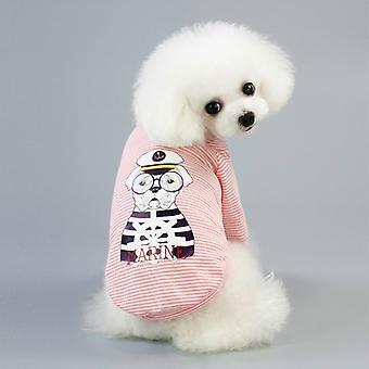 Pet Clothing Dog Vest Cool T-shirt, Size:XL(Pink)