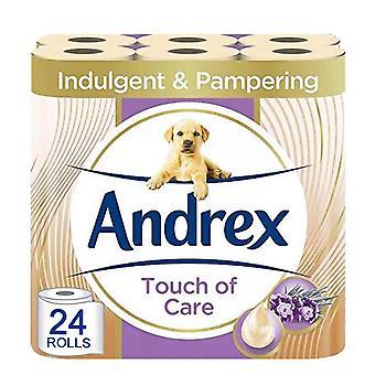 Andrex Toilet Roll Tocco di cura con burro di karité 2 Ply Carta igienica, 24 rotoli
