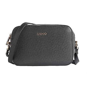 Woman Liu-jo Crossbody S Manhattan Saffiano Black Bag Bs21lj71 Aa1174