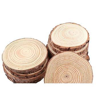 دوائر شرائح الخشب مع أقراص سجل لحاء الشجرة