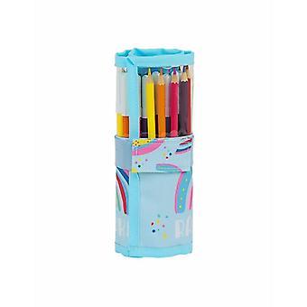 مزدوجة قلم رصاص حالة توهج مختبر قوس قزح (27 قطعة)