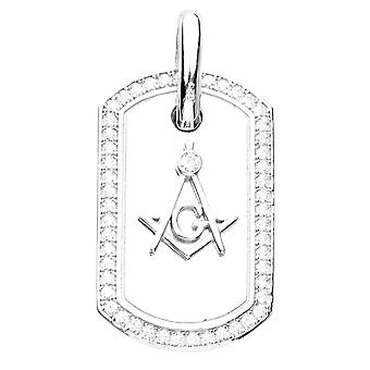 Premium Bling - 925 sterling sølv Masonic hunden dag