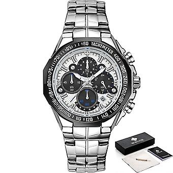 Men Luxury Military Quartz Watch Full Steel Waterproof Watches