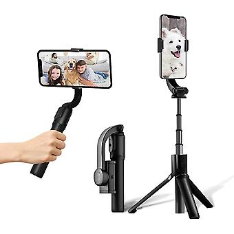 Netsilicon Folding Gimbal Stabilizer for Smart Phone with Wireless Remote Control, 1-Vlog Youtuber Selfie Stick for iPhone Samsung Huawei, Auto Balance/Shake Reduction