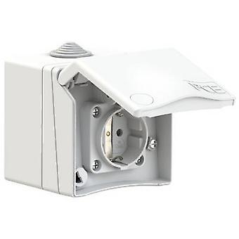 PCE 8630v Surface-mount socket lämplig för vattensporter IP44 vit
