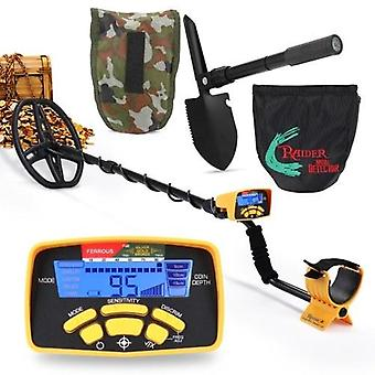 MA6450 Portable Easy Installation Underground Metal Detector High Sensitivity Jewelry Treasure Gold Metal Detecting Tool Finder LCD Display Screen with Backlight for Adults and Kids