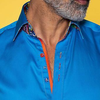 ITEM NÃO DESCONTADO/ VENDA Camisa clássica com inserção de mármore vibrante