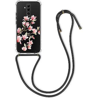 FengChun Hülle kompatibel mit Huawei Mate 20 Lite - mit Kordel zum Umhängen - Silikon Handy
