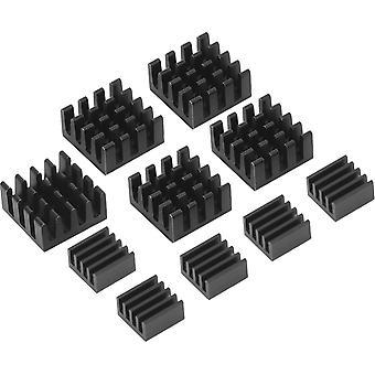 FengChun Schwarz Aluminium Kühlkörper Kühler Kit für Raspberry Pi 3, Pi 2, Pi Modell B+, 10 Stück