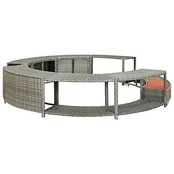 Spa Surround Poly Rattan for Outdoor Hot tub,Furniture Garden