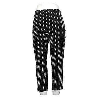 Women With Control Shapewear Regular Printed Crop Pants Black A350560