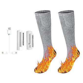 3.7V heated socks foot warmers electric heating washable battery for winter skiing hiking fishing riding