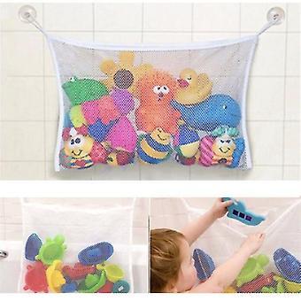 Suction Bathroom Stuff Baby Bath Bathtub Toy Mesh Net Storage Bag Organizer