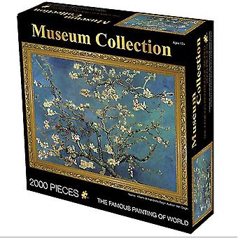 Apricot blossom 2000 pieces of oil painting adult puzzle educational toys,creative decompression birthday gift az4030