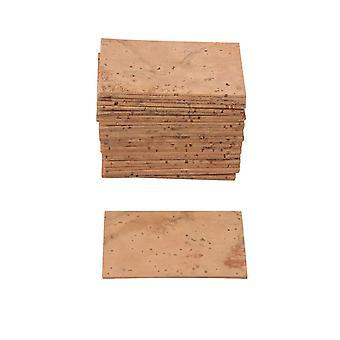 Pour 30pcs Sax Neck Joint Cork Sheet 4.5x2.5cm pour Woodwinds Instrument WS3448