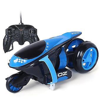 للتحكم عن بعد سيارات الرعد الانجراف دراجة نارية ترتد حيلة لعب هدية للأطفال عيد الميلاد (الأزرق) WS23622