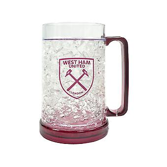 West Ham Freezer Tankard Clear Crest