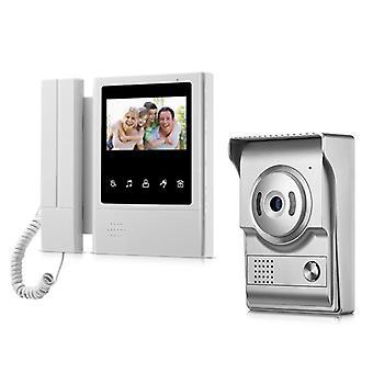 4,3 tuuman langallinen video-ovipuhelinjärjestelmä visuaalinen sisäpuhelin ovikello
