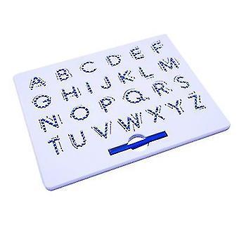 Alphabet majuscule numéro alphabet boule d'acier plastique planche à dessin magnétique jouet pour enfants az12369