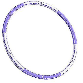 חישוקי הולה למבוגרים מתעמלים בעיצוב הרכבה מרובה נשלף (סגול לבן)