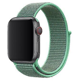 Cinturino in nylon con Velcro per Apple Watch Series 4 40mm / Serie 3/2/1 38mm - Verde