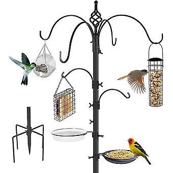 4-hook Bird Feeding Station Bird Feeder Pole Upgraded 5-prong Base Wild Bird Feeder Hanging Kit