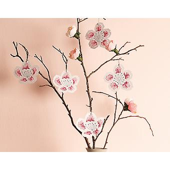 8 Cherry Blossom formade broderi korsstygn styrelser - Vuxna Hantverk