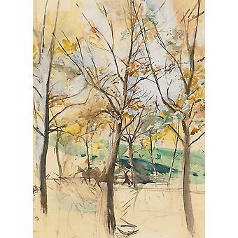Fondo de pantalla Arte Mural Árboles En El Bois De Boulogne por Giovanni Boldini