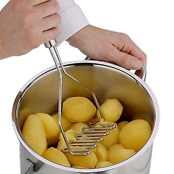 Stainless Steel Wave Shape Potato Masher Tool Kitchen Bar Potatoes Crusher Crushing Tool New Kitchen Accessories Stainless Steel