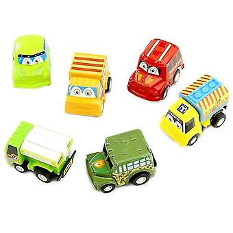 Children Pull Back Car/ Bus/ Truck -cartoon