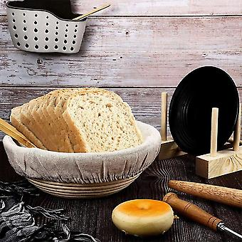 2pcs Bread Banneton Proofing Basket Set 9 Inch Round 10.2 Inch Oval