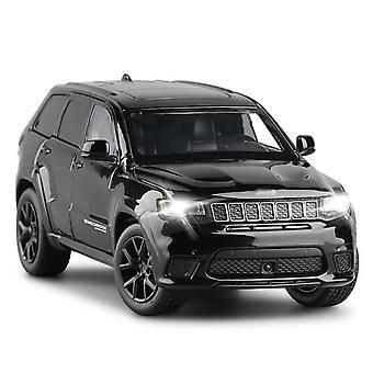 1/32 Grand Cherokee Track Eagle Alloy Die Cast Modell Spielzeug Auto Sound Licht Spielzeug Fahrzeug (schwarz)