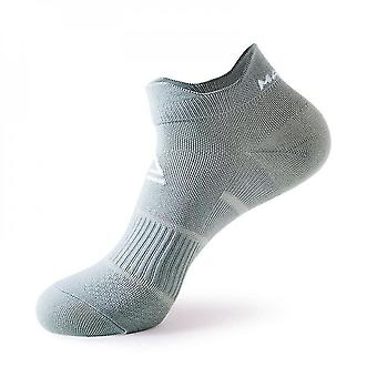 Grey 2 pack men's cushioned low-cut anti blister running and cycling socks mz880