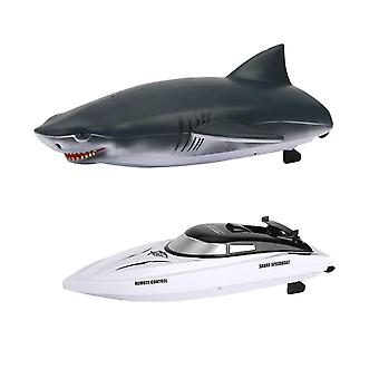 Remote control boats watercraft rc ship shark 2 in 1 high speed remote control boat