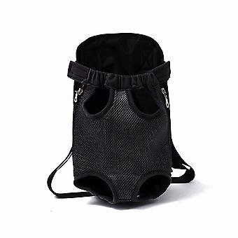 Animaux de compagnie Chats et chiens sortent Coffre portable Respirant Sac à dos noir (taille m)