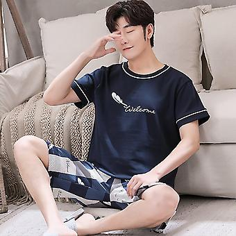 Summer Sleepwear Cotton Pajama Sets Fashion Letter Print Casual Cure