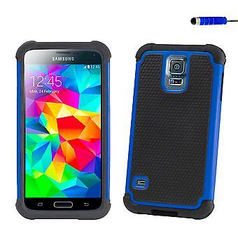 Etui antichoc + stylet pour Samsung Galaxy S5 Mini (SM-G800) - Deep Blue