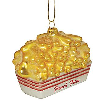 Fast Food French Fries Blown Glass Christmas Holiday Ornament Cape Shore