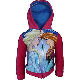 Flickor Disney Frozen Elsa & Anna Fleece Full Zip Hooded Sweatshirt
