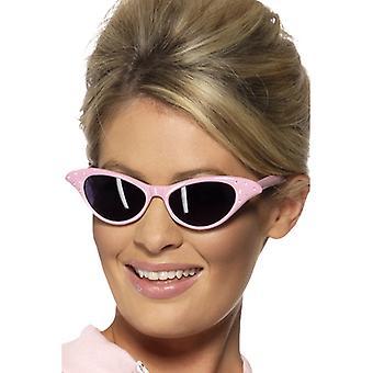 50er 60er Jahre Diamant Damen Brille rosa