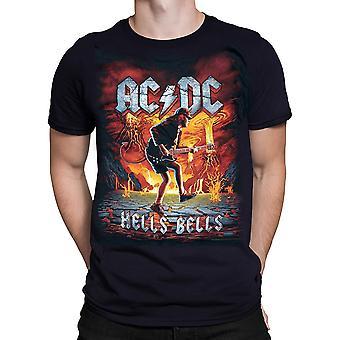Vloeibare Blue-Rock uitbarsting-ACDC t-shirt-zwart
