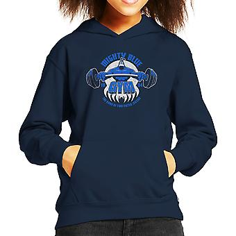 Mighty Blue Gym The Tick Kid's Hooded Sweatshirt